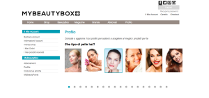 Questionario del profilo My Beauty Box