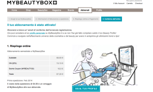 Ordine di My Beauty Box