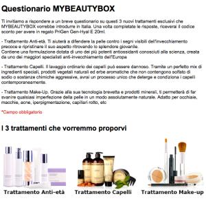Questionario My Beauty Box