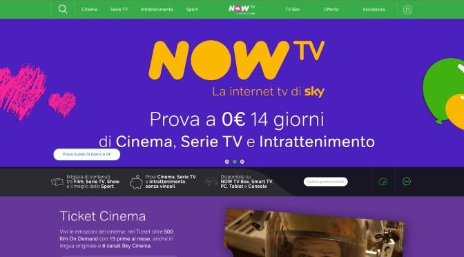 Arriva Now TV, abbonamento ai canali satellitari in streaming: dopo Sky online, è un concorrente per Netflix? [AGGIORNATO]