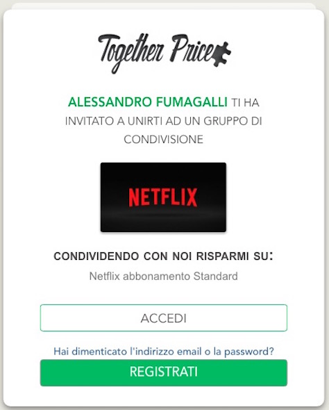 together price registrazione